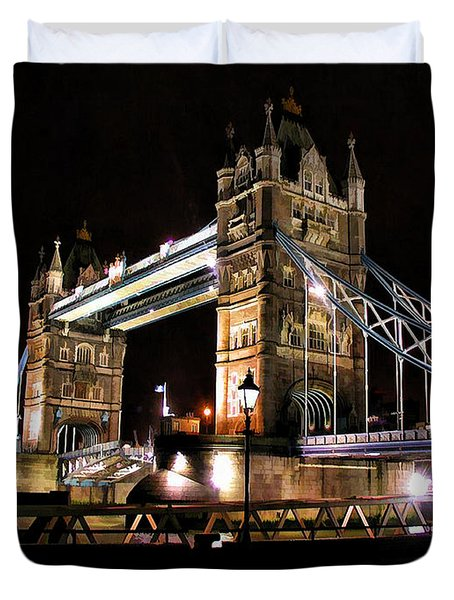 London Bridge At Night Duvet Cover