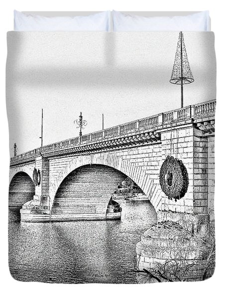 London Bridge Lake Havasu City Arizona Duvet Cover