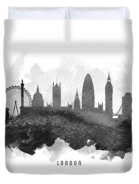 London Cityscape 11 Duvet Cover by Aged Pixel