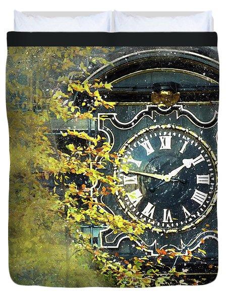 London Clock Duvet Cover