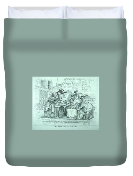 London Coffee Stall Duvet Cover