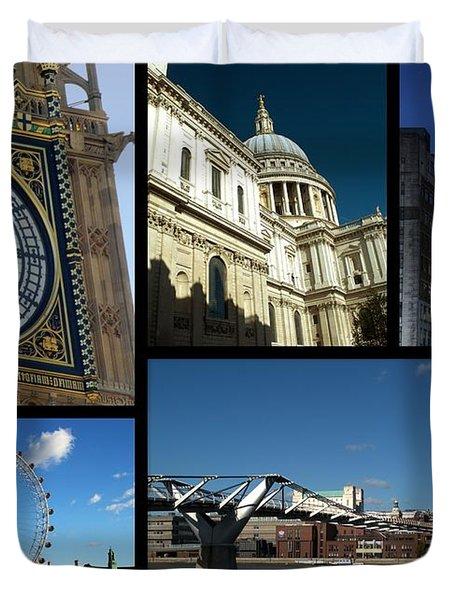 London Collage Duvet Cover