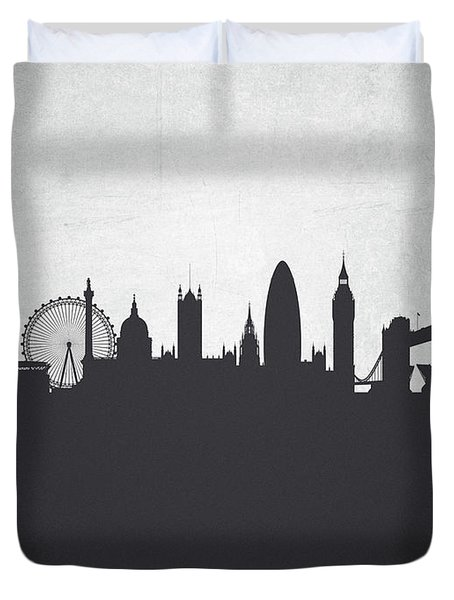 London England Cityscape 19 Duvet Cover by Aged Pixel