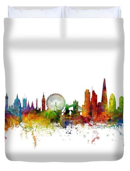 London England Skyline 16x20 Ratio Duvet Cover