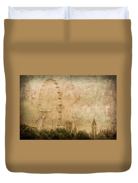 London, England - London Eye Duvet Cover