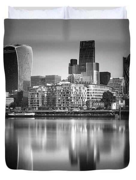 London Financial District Duvet Cover
