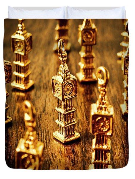 London Gold Duvet Cover