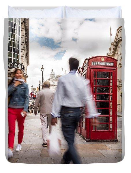 London In Motion Duvet Cover