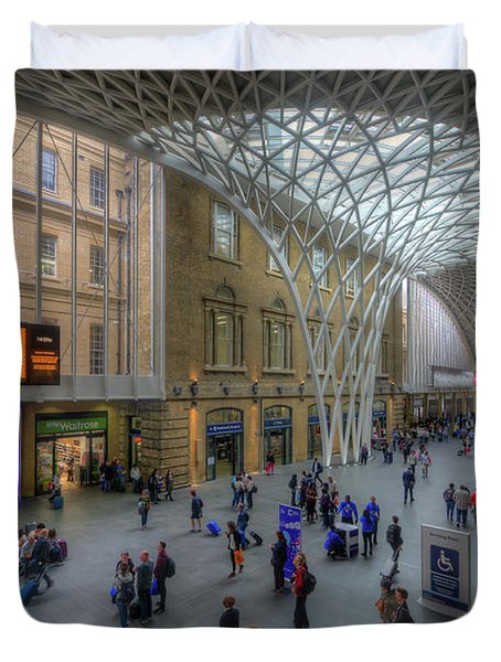 Duvet Cover featuring the photograph London King's Cross by Yhun Suarez