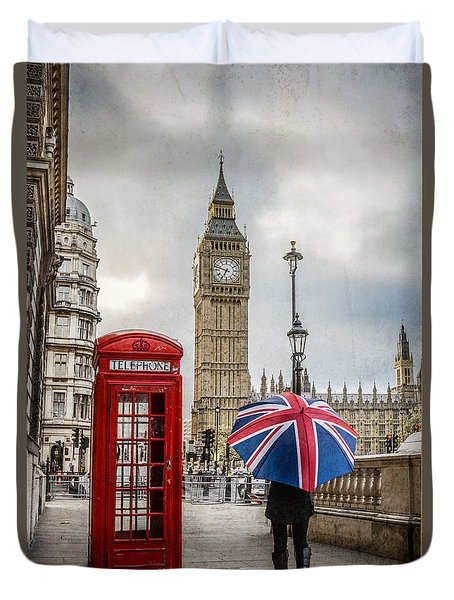 London Lady Duvet Cover