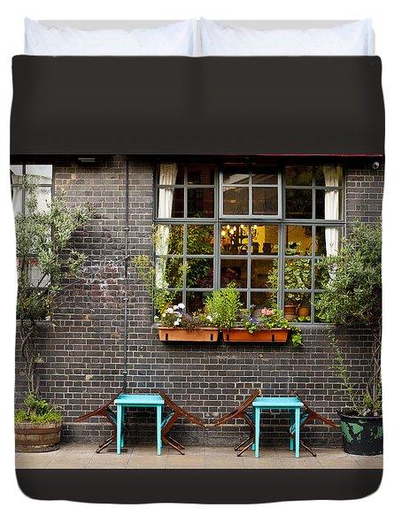 London Patio Duvet Cover by Rae Tucker