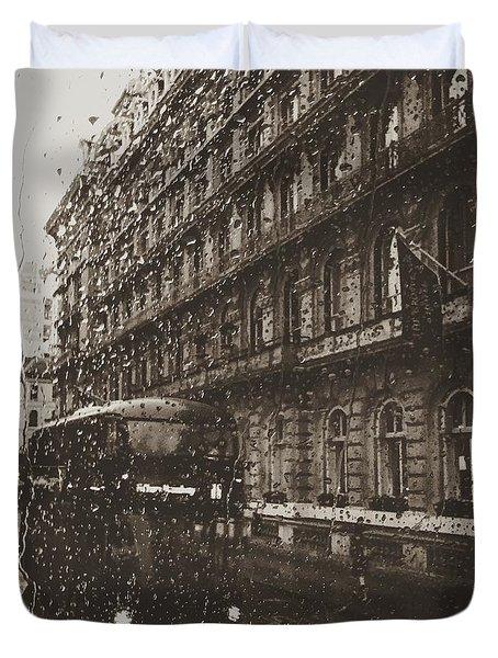 London Rain Duvet Cover