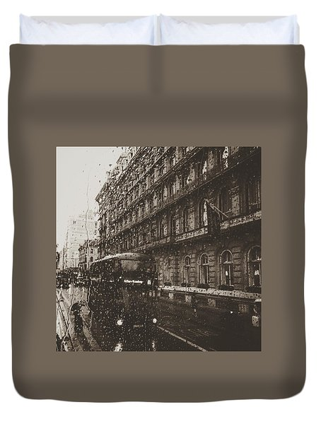 London Rain Duvet Cover