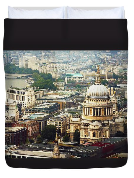 London Rooftops Duvet Cover by Judi Saunders