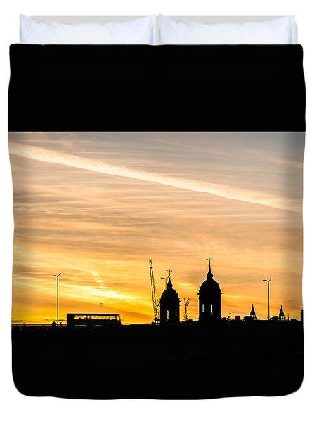 London Silhouette Duvet Cover