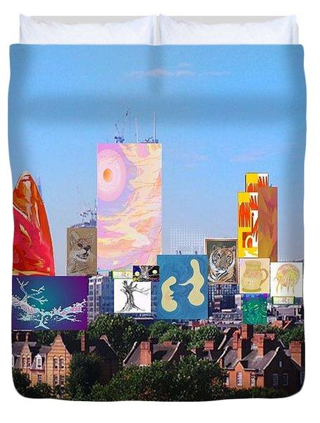London Skyline Collage 1 Duvet Cover