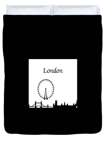 London Skyline Outline Duvet Cover