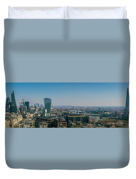 Duvet Cover featuring the photograph London Skyline by Stewart Marsden