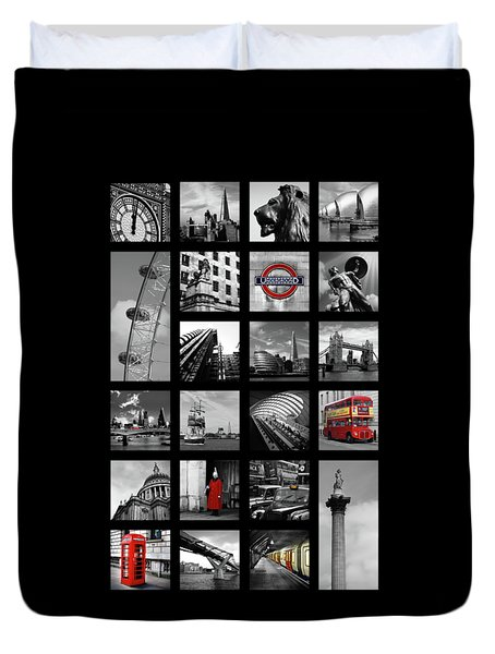 London Squares Duvet Cover by Mark Rogan