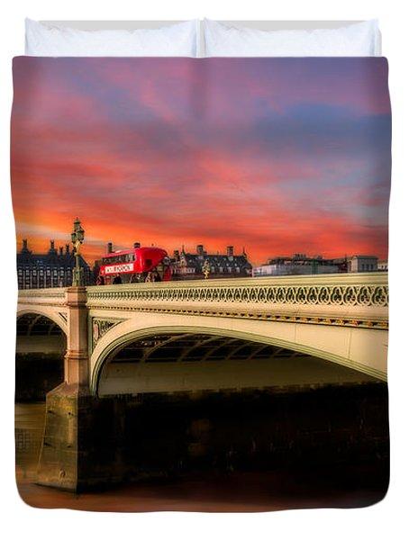 London Sunset Duvet Cover