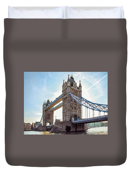 Duvet Cover featuring the photograph London - The Majestic Tower Bridge by Hannes Cmarits