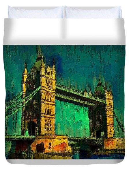 London Tower Bridge 18 - Da Duvet Cover