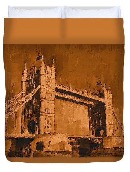 London Tower Bridge Sepia - Pa Duvet Cover