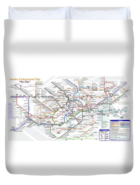 London Underground Map Duvet Cover