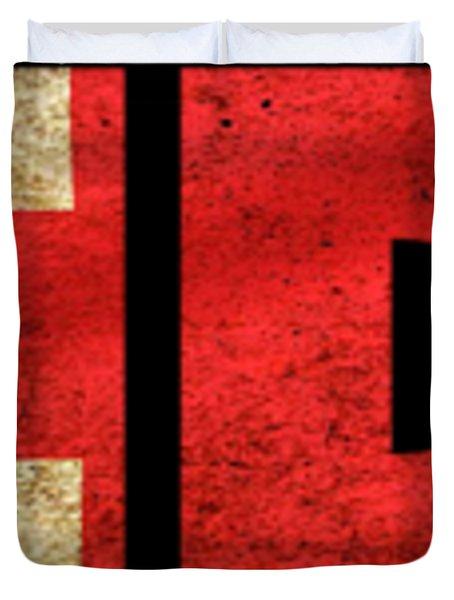 London Vintage British Flag Tee Duvet Cover