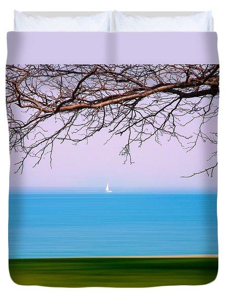 Lone Boat Duvet Cover