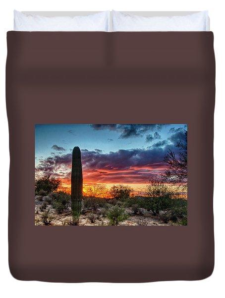 Lone Cactus Duvet Cover