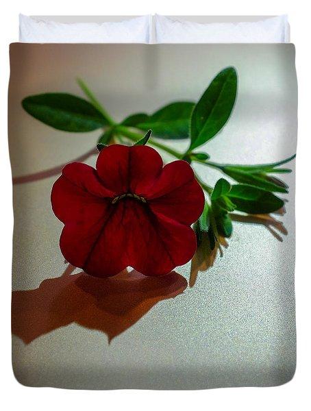 Lone Calibrachoa Duvet Cover