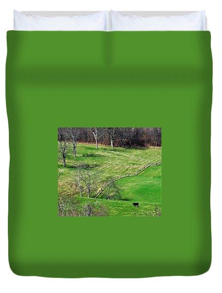 Lone Cow Duvet Cover