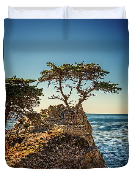 Lone Cypress Tree Duvet Cover by James Hammond
