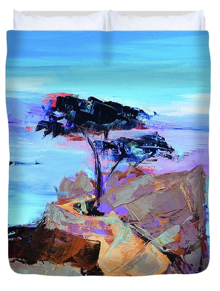 Lone Cypress - California Duvet Cover