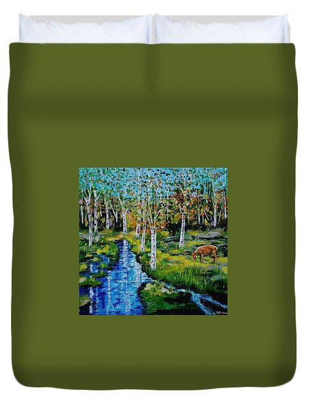 Lone Deer Duvet Cover by Mike Caitham