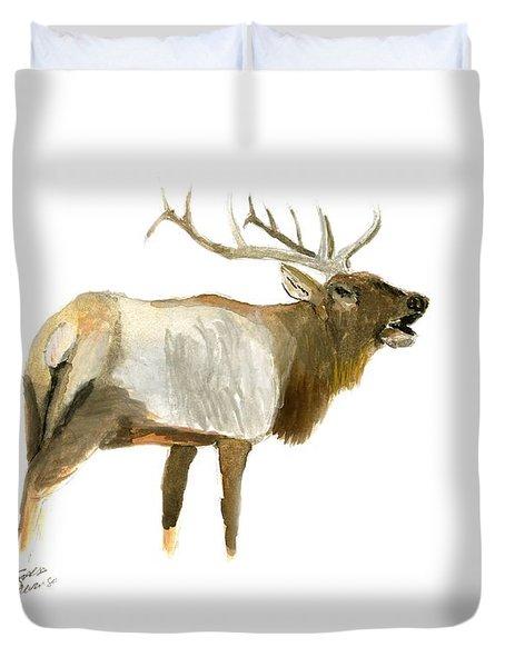 Lone Elk Duvet Cover