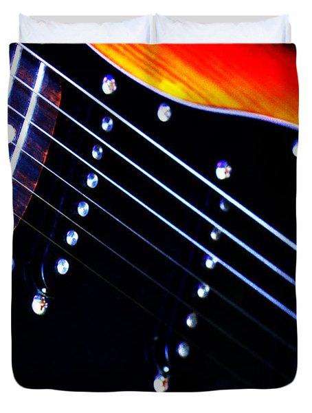 Lone Guitar Duvet Cover by Stephen Melia