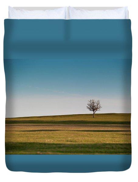 Lone Hawthorn Tree II Duvet Cover