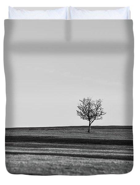 Lone Hawthorn Tree Iv Duvet Cover