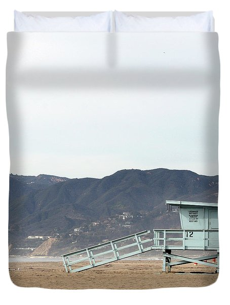 Lone Lifeguard Tower Duvet Cover
