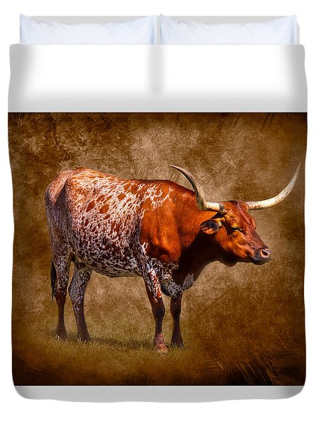 Lone Longhorn Duvet Cover by Doug Long