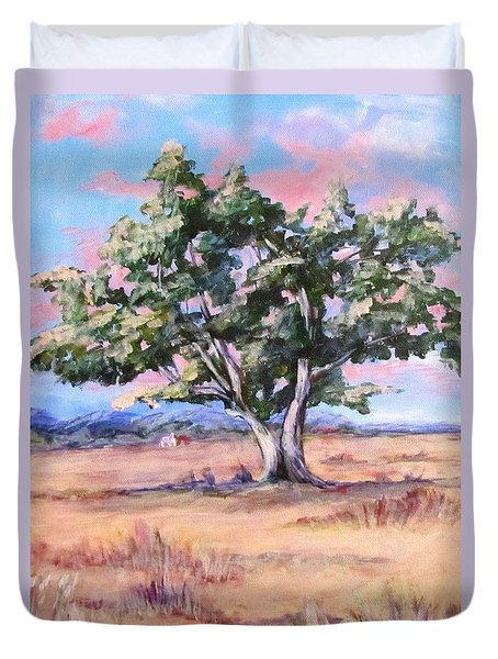 Lone Oak Duvet Cover by Barbara O'Toole