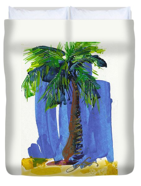 Lone Palm Duvet Cover