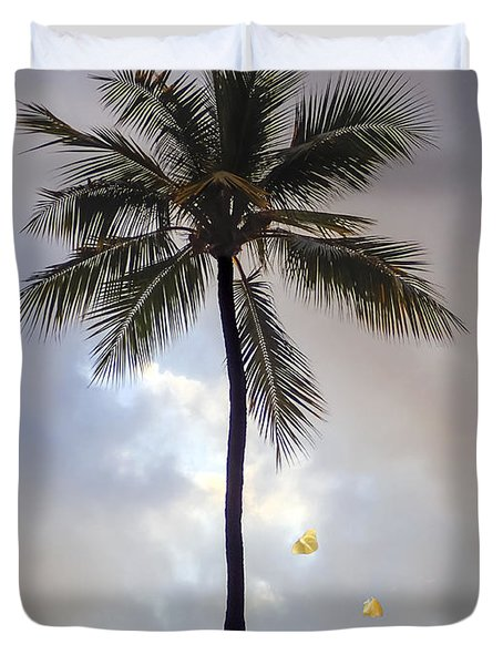 Lone Palm Tree Duvet Cover