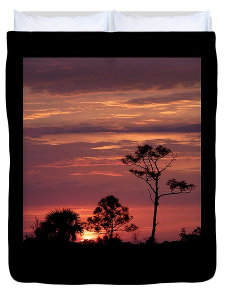 Lone Pine Sunset Duvet Cover