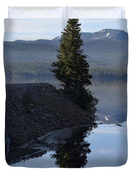 Lone Pine Reflection Chambers Lake Hwy 14 Co Duvet Cover