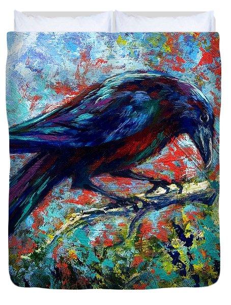 Lone Raven Duvet Cover