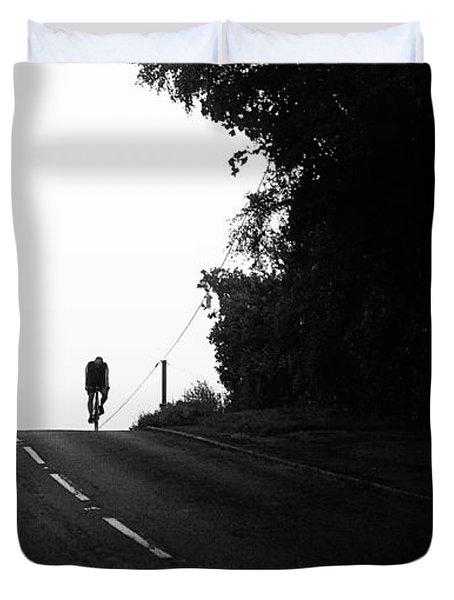 Lone Rider Duvet Cover