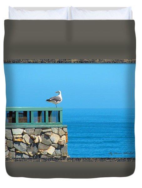 Lone Sea Gull Duvet Cover by Doreen Whitelock